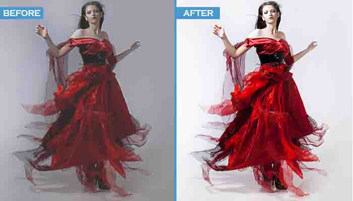 glamour photo retouching